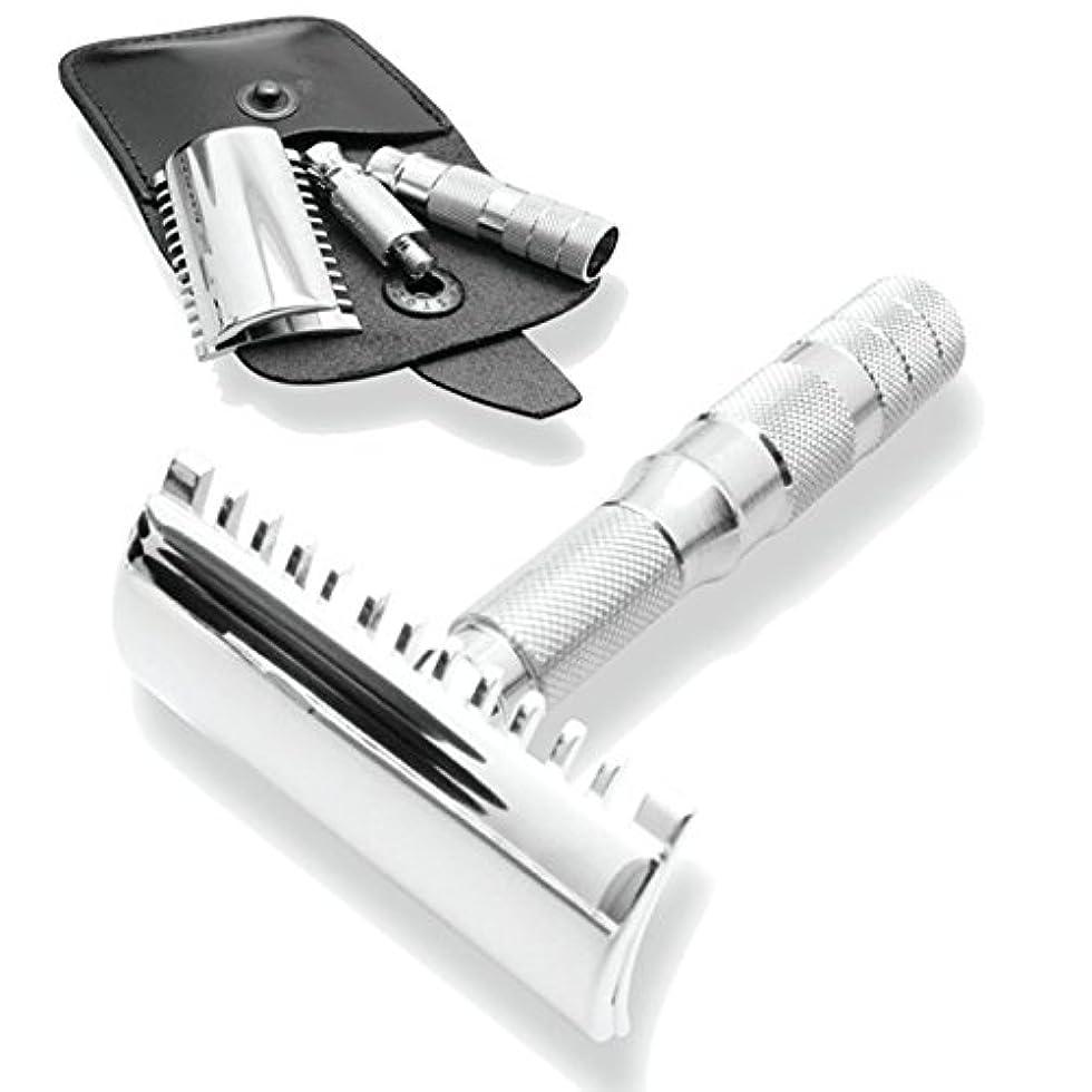 クラブベスビオ山迫害するMerkur & Dovo Open Tooth Comb Travel Razor
