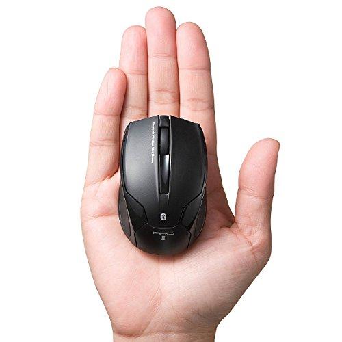サンワダイレクト 超小型 ワイヤレスマウス Bluetooth3.0 レーザーセンサー Android スマホ・タブレット対応 ブラック 400-MA078BK