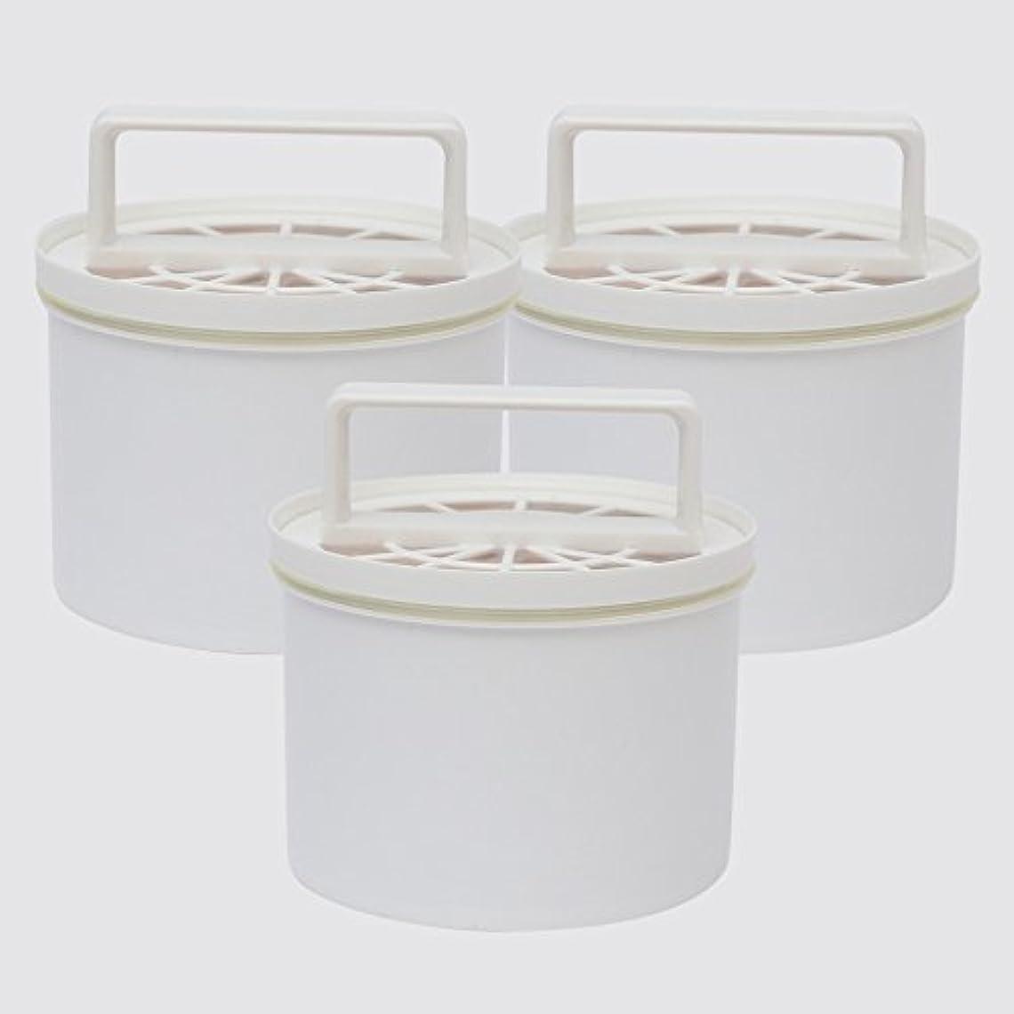 有彩色のモバイル告発サンエイ化学 【ピュアメーカー】 卓上型精製水器 カートリッジ × 3 イオン交換樹脂 精製水