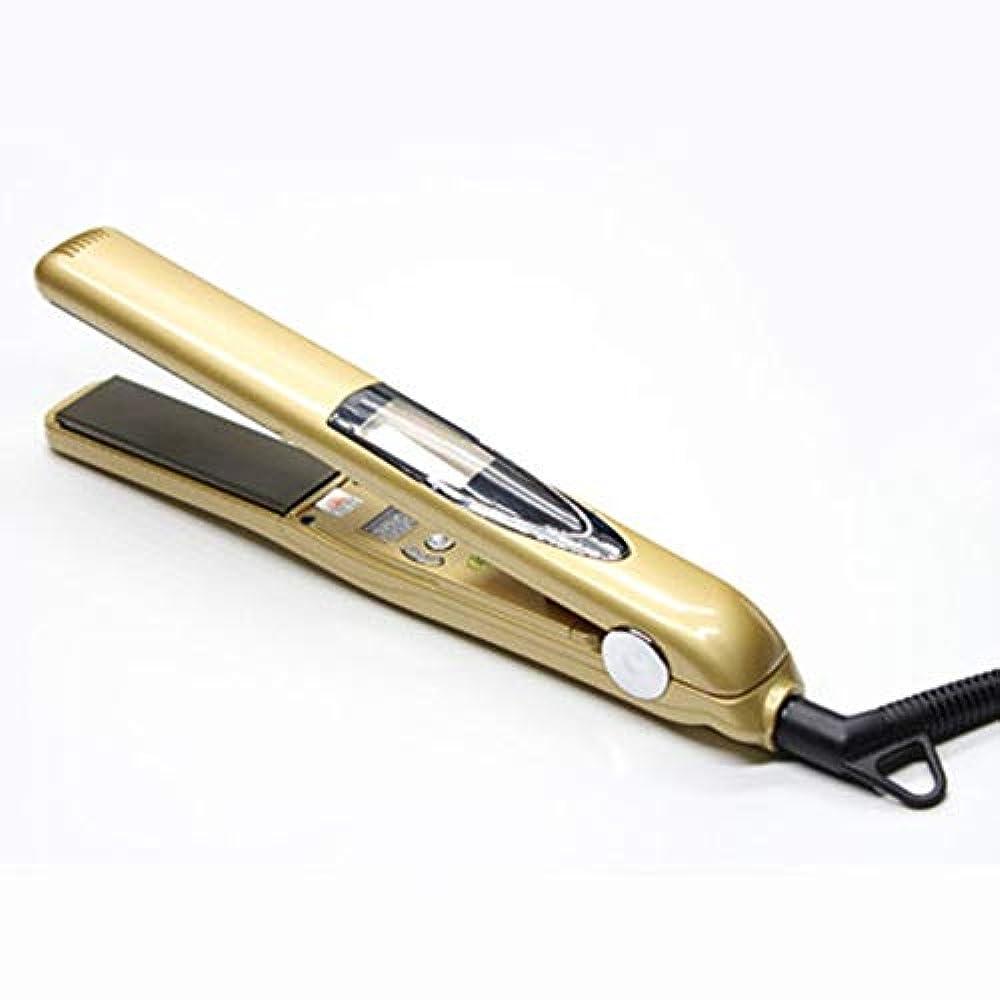 食器棚外出ラメKUVV急速加熱 振動の高温まっすぐな毛の副木の方法毛のストレートナーは毛のパーマのまっすぐな力の副木を傷つけません