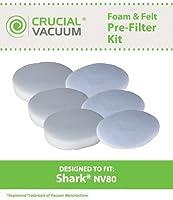 シャークnv803Foam & 3フェルトの部品交換フィルタフィットナビゲータnv80、uv420& uv440、と互換性パーツ# xff80、by Think Crucial