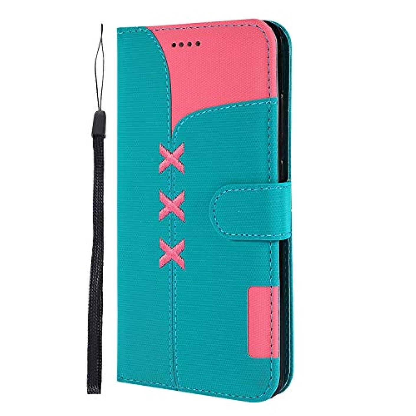 インチ思春期の酸度Lomogo Huawei Mate20 ケース 手帳型 耐衝撃 レザーケース 財布型 カードポケット スタンド機能 マグネット式 ファーウェイMate20 手帳型ケース カバー 人気 - LOGHU040275 青