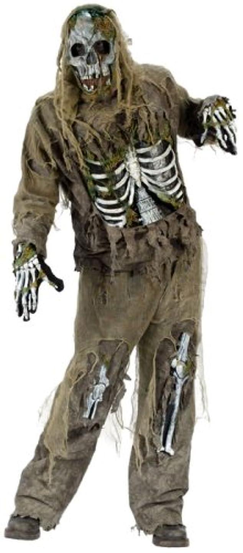 手当過半数エネルギー骸骨ゾンビ 恐怖ホラー 大人用コスチューム ワンサイズ