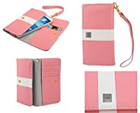 DFV mobile - カバー付きの名刺ケースの色のライン デザイン プレミアム => Leagoo Lead 3S > ピンク