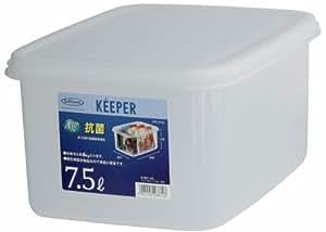 岩崎 食品保存容器 クリア 7.5L (M) フレッシュキーパー ジャンボケース 深型 B-887AG