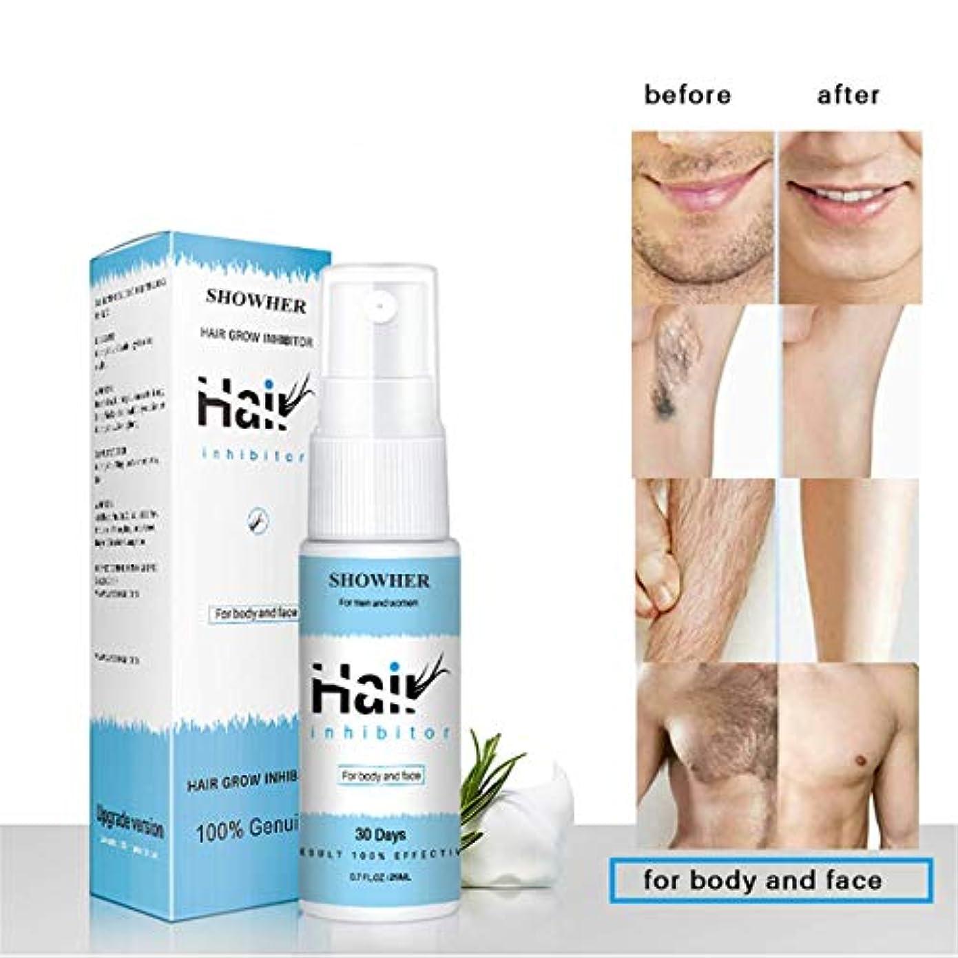 解体するホースヒューバートハドソン発毛除去剤血清オイルスプレーひげビキニ親密な顔脚体脇の下痛みのない脱毛剤