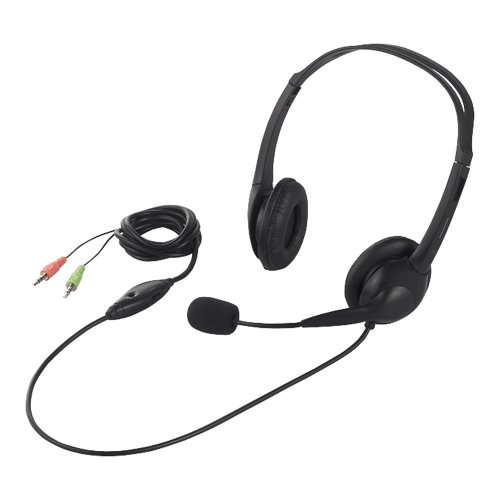 iBUFFALO 両耳ヘッドバンド式ヘッドセット 半密閉タイプ ブラック BSHSH07BK