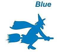 カッティングステッカー 青 カッティングシール 魔女3 ソーサラー sorcerer 飛行 ほうき 箒