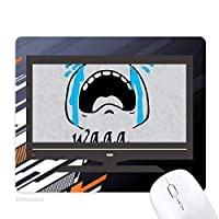 黒のかわいい絵文字パターンの泣き叫ぶ声チャット ノンスリップラバーマウスパッドはコンピュータゲームのオフィス