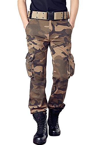 カーゴパンツ メンズ 迷彩柄 ミリタリー 作業着パンツ アウトドア ワークパンツ ストレッチ 大きいサイズ アウトドア 男性 ファション 長ズボン 6色