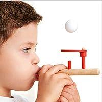ACHICOO パズル 吹く ボール マジック サスペンション 木製 玩具 子育てゲーム 子供
