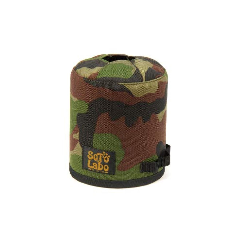 打撃確認してください強打(ソトラボ)SotoLabo ガスカートリッジカバーGas cartridge wear/Woodland Camo (OD500)