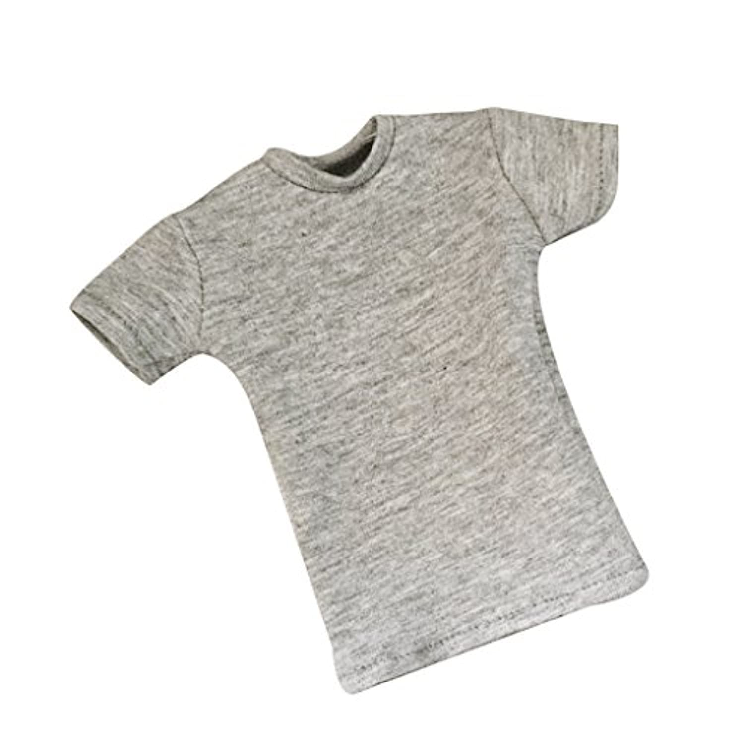 Jili Online 1/6th Scale Grey T-Shirt for 12'' HT/DID/SS/DML/TC Male Action Figure Body