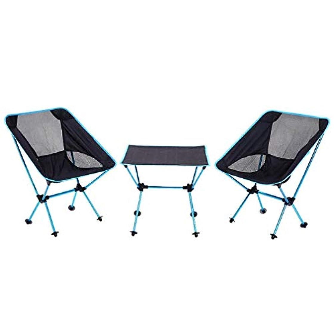歌可能メンターキャンプのバーベキューパーティーブルーに適したポータブルピクニックテーブル屋外折りたたみテーブルと椅子セット Carl Artbay