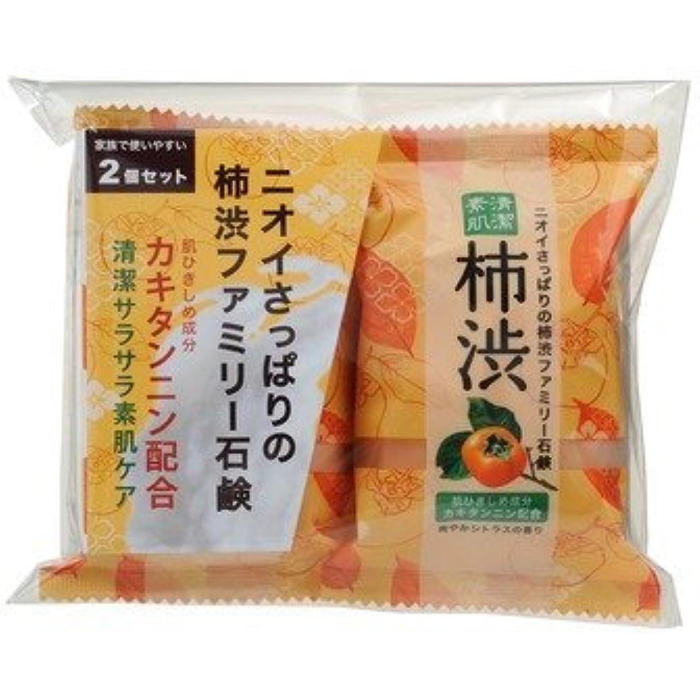 サポート徐々にアロングファミリー柿渋石鹸 2P × 10個セット