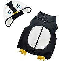 (コ-ランド) Co-land ベビー ベスト なりきり ペンギン ノースリーブ アウター キャラクター 赤ちゃん 子供ベスト フード付き トップス ブラック サイズ3T