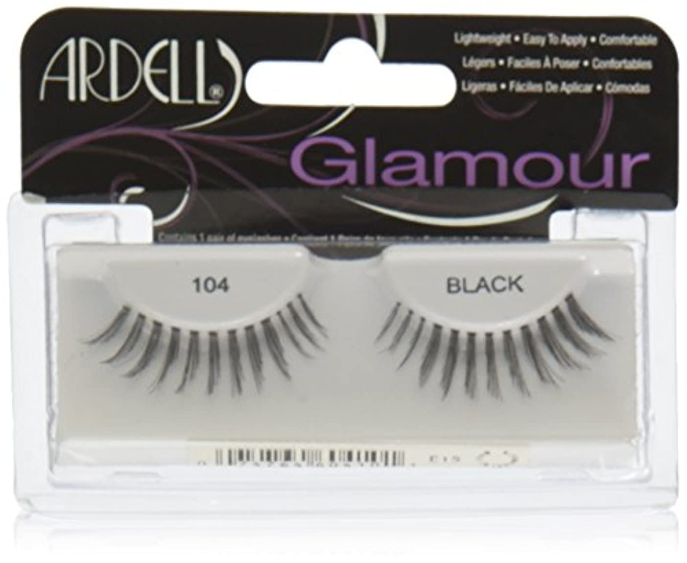 犬証言するモードARDELL False Eyelashes Fashion Lash Black 104 (並行輸入品)
