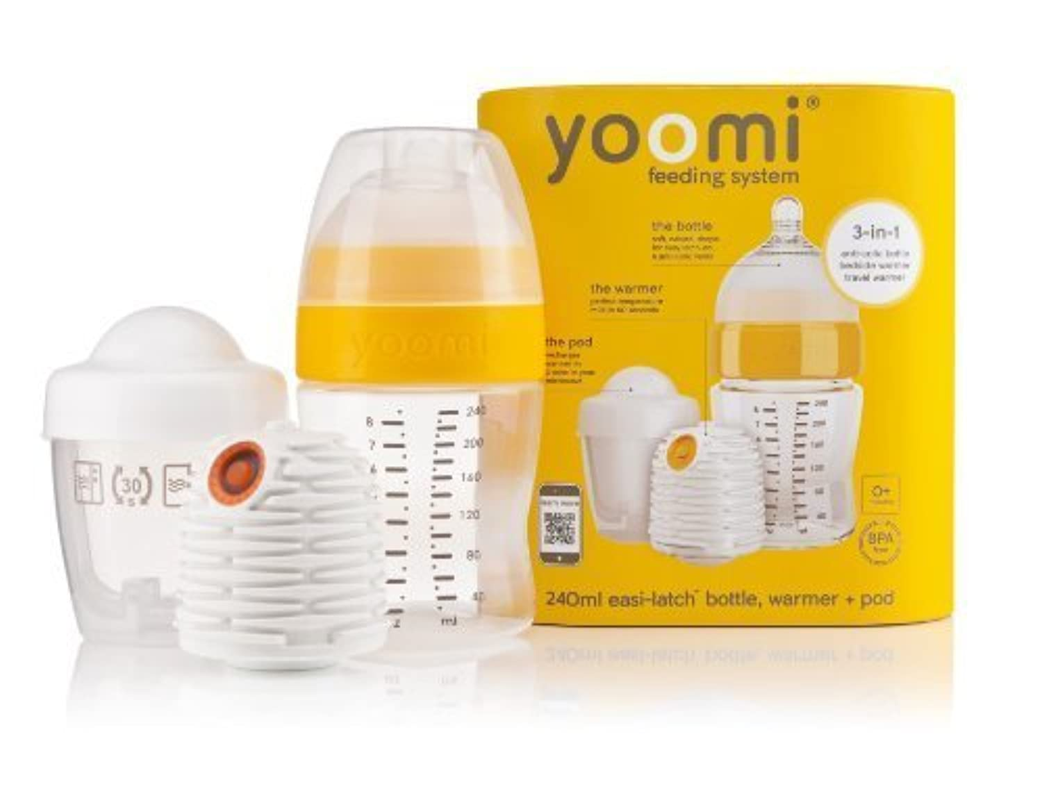 8 oz Feeding Bottle with Warmer and Medium Flow Teat by Yoomi [並行輸入品]