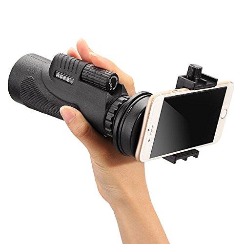 YOKINO 人気 単眼鏡 (三脚+クランプ) 望遠鏡 1600m/9600m視野 12X50倍 クリップ式 三脚付き キットセット 望遠レンズ 携帯カメラレンズ 携帯電話の望遠鏡 カメラレンズキット スマホレンズ 望遠ズームレンズ 取り外し可能 360度回転可能 横幅調節 脱落防止 携帯カメラ ズーム望遠鏡 HDレンズ 光学 望遠鏡 ナイトビジョン 小型 軽量 強力 各種スマートフォン対応 コンサート/ 旅行 / アウトドア/ スポーツ / ライブ / 夜景 に