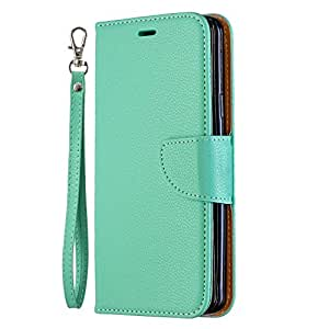 NEXCURIO Galaxy S9+ / docomo SC-03K / au SCV39 ケース 手帳型 PU レザーケース 耐衝撃 カード収納 スタンド機能 マグネット式 ギャラクシーS9プラス ケース 携帯カバー おしゃれ - NEBFE130180 緑