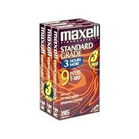 Maxell 213043 T180-GX Standard Grade VHS Video Tape - 3 Tapes [並行輸入品]