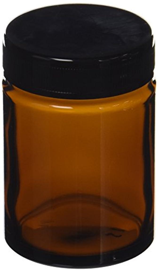 違反腸ハム茶色ガラス クリーム容器(100ml)