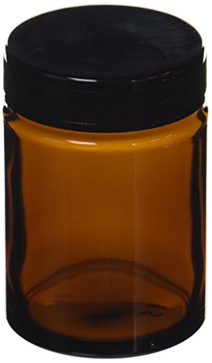 スペース怠フィヨルド茶色ガラス クリーム容器(100ml)