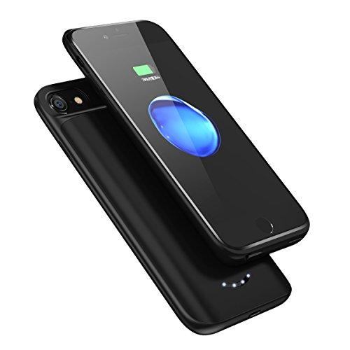 バッテリー内蔵ケース 4000mAh 大容量 ケース型バッテリー 超軽量 薄型 スリム iPhone6s/iPhone7/iPhone8 急速充電用 バッテリーケース (ブラック)