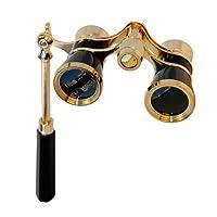 拡張可能ハンドル付きHQRP 3x25 Opera Black Theater双眼鏡