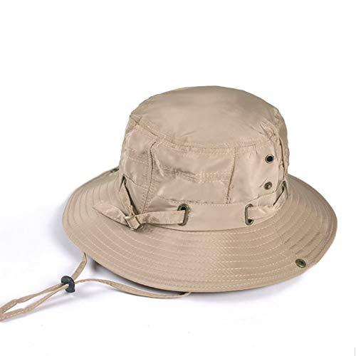 Geeoce サファリハット メンズ レディース 帽子 大きいサイズ つば広 UVカット 日焼け防止 通気性抜群 紫外線対策 日除け アウトドア 折りたたみ ひも付き 釣り ハイキング 登山