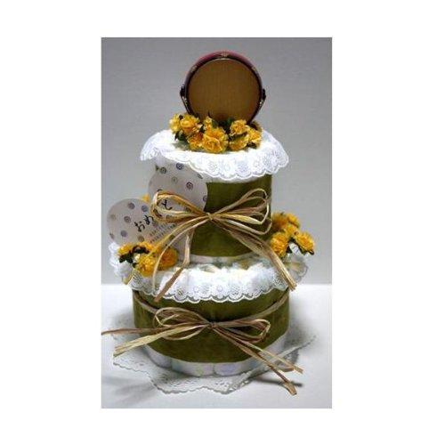 和風おむつケーキ おむつパンパース 手提げ袋選択 (パンパースS, 手提げ紙袋 いる)