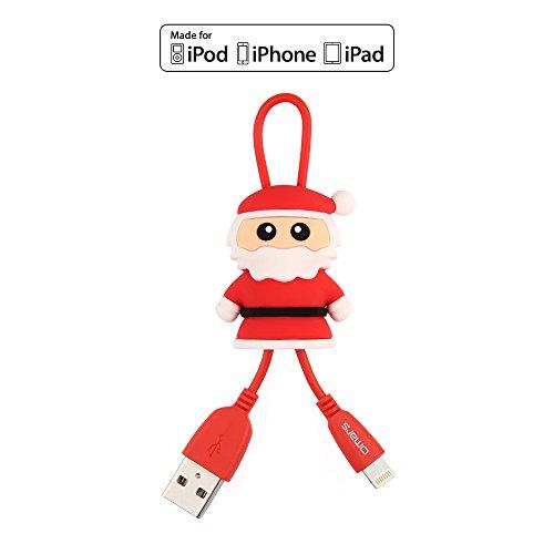 Omars(Apple MFI認証)lightning USB ケーブル サンタクロースケーブル (サンタクロース) クリスマスギフト
