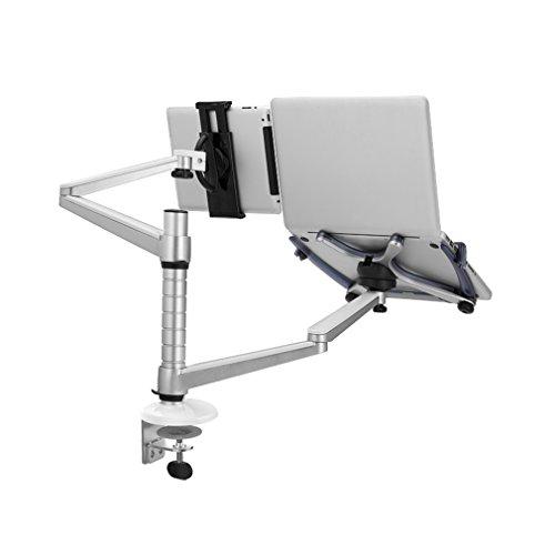 PCスタンド ICOCO タブレット&ノートパソコンスタンド ホルダー 端末用 ガス圧式デュアルモニターアーム 横/縦型 2台設置可能 肩こり腰痛防止(モニターアーム)