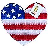Patriotic Heart Pinata
