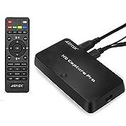 【アップグレード2.0版】AGPTEK 1080P HDMIビデオキャプチャー ストリーミングゲームキャプチャー リモコン付き スケジユール録画  画質調整、録画分割 HDMI/YPBPR入力/AV入力 Nintendo Switch PS4およびPS3  XBOX ONE実況音声の追加や編集!「日本語取扱説明書付き」 VG0072