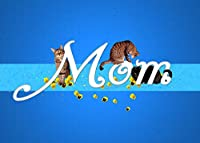 MOM 's誕生日猫グリーティングカード、5x 7with Matching封筒、ハンドメイドfor Cat Lovers by Deborah Julianアート