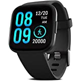 FITVII Smart Watch, Fitness Tracker with Heart Rate Monitor, IP68 Waterproof Smartwatch with Blood Pressure Sleep Tracking, S