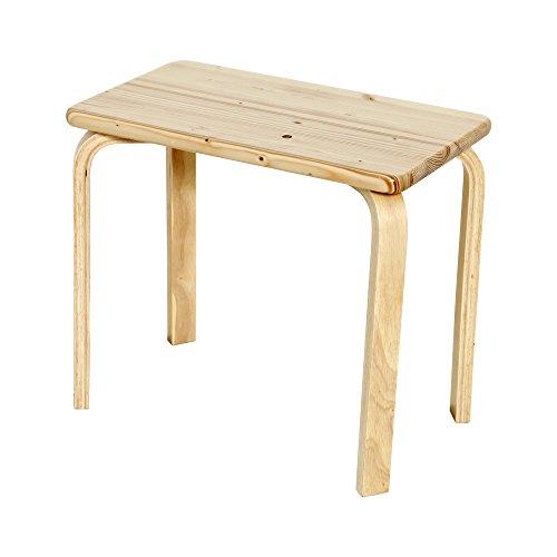 【JAJAN】天然木ベッドサイドテーブル ナチュラル[シンプル][北欧パイン材]