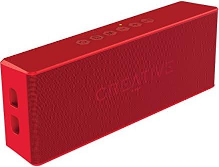 Creative MUVO 2レッド クリエイティブ ミューボ ツー Bluetooth 防水 防塵 IP66 相当 バスラジエーター搭載 ステレオ ポータブル ワイヤレス スピーカー  SP-MV2-RD