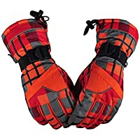 MolySun スキーグローブ 登山 手袋 Feiyu D002メンズ防水防風スキーグローブ冬暖かい厚手手袋アウトドアスポーツライディングスケートスキーアクセサリー