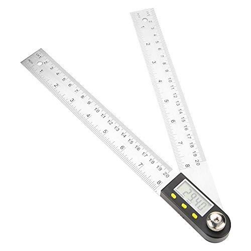デジタル傾斜計分度器、0-200ミリメートルステンレス鋼電子分度器定規 角度ファインダーマイターゲージルーラー