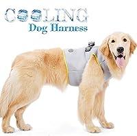 Rantow 犬冷却ハーネス - 反射 子犬クーラーベスト 屋外トレーニング クールハーネス - 小型中大型ペット犬用7サイズ (L (Neck:36-40cm, Chest:50-56cm))