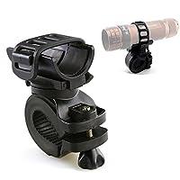 Ezyoutdoor 360 Degree bike flashlight holder Cycling Bicycle Bike Mount Holder for LED Flashlight Torch Clip Clamp Riding Biking [並行輸入品]