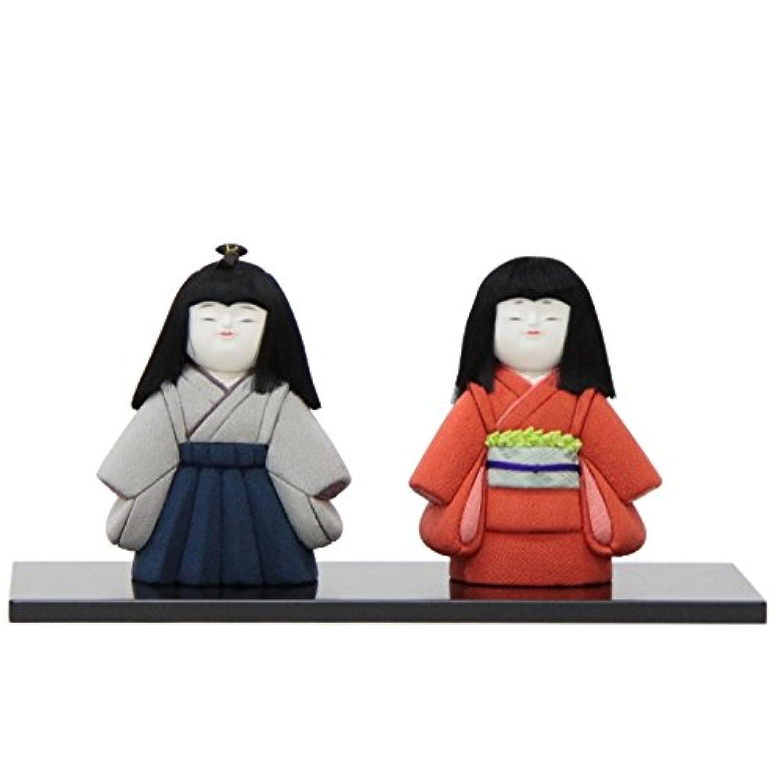 雛人形 アウトレット品 木目込み市松人形 二人 幅39.5cm 18ya1284 台付き