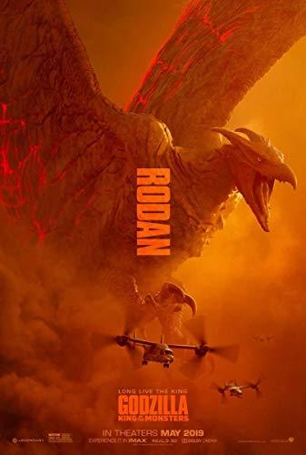 ゴジラ キング・オブ・モンスターズ 90cm x 60cm ポスター ラドン ver. 海外告知版 Godzilla