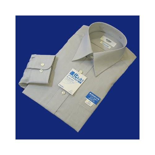 綿100%形態安定「日清紡シャツ」グレー 39-80