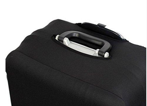 (ヨーテイ)Youtei スーツケース カバー 保護袋 18インチ~32インチ (L(26インチ-28インチ), ブラック)