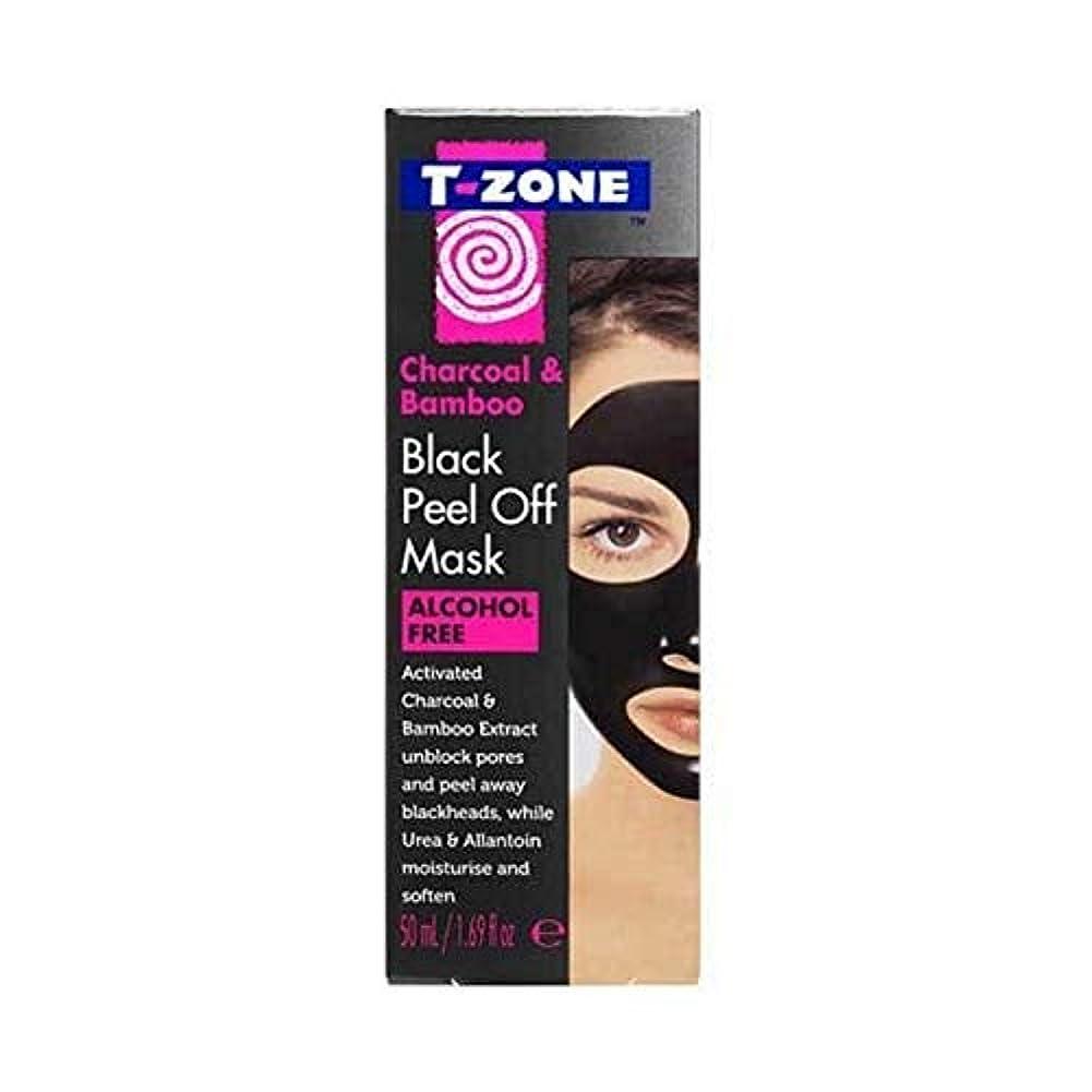 流キャプチャー挨拶[T-Zone] Tゾーン木炭&竹ブラックマスク50ミリリットルを剥がし - T-Zone Charcoal & Bamboo Black Peel Off Mask 50ml [並行輸入品]