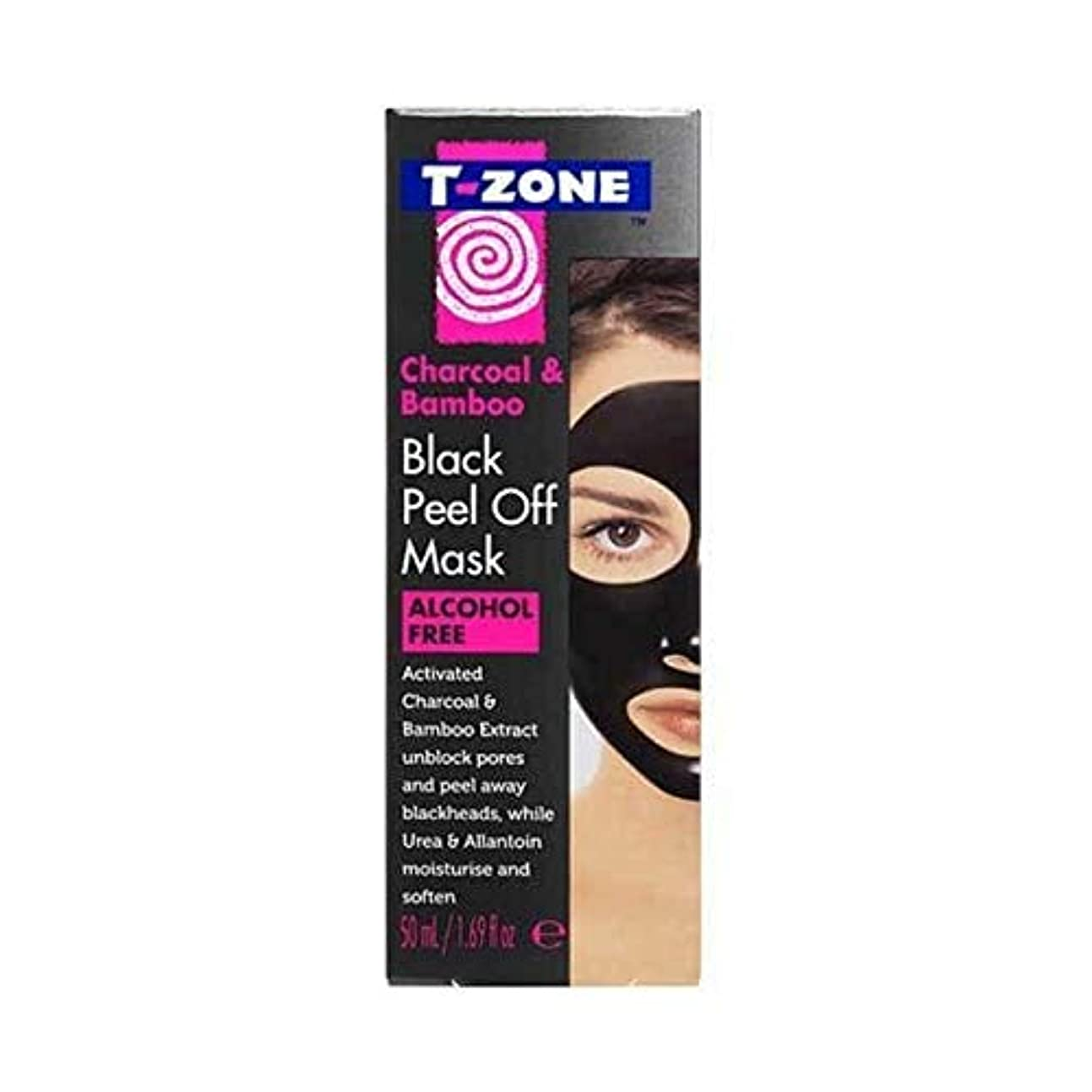 輝くハングローラー[T-Zone] Tゾーン木炭&竹ブラックマスク50ミリリットルを剥がし - T-Zone Charcoal & Bamboo Black Peel Off Mask 50ml [並行輸入品]
