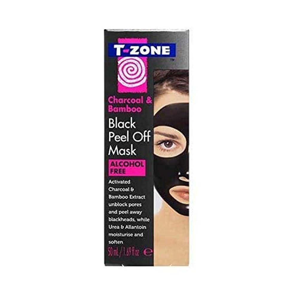 半島明日延期する[T-Zone] Tゾーン木炭&竹ブラックマスク50ミリリットルを剥がし - T-Zone Charcoal & Bamboo Black Peel Off Mask 50ml [並行輸入品]